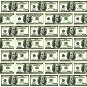 Hundred Dollar Bills horizontal