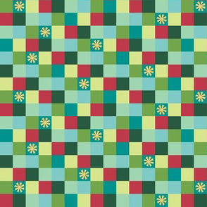 Colorful Little Christmas Squares