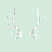 fois bois antlers // mint