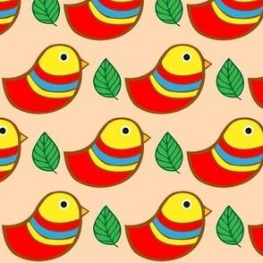 Happy Birdy in peach