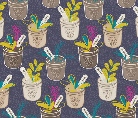 Let's Grow Something fabric by jenflorentine on Spoonflower - custom fabric