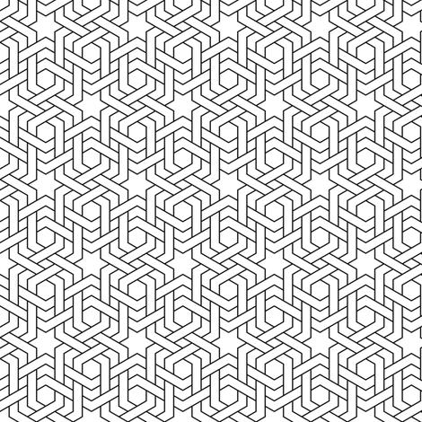 hexagonal star weave doubled