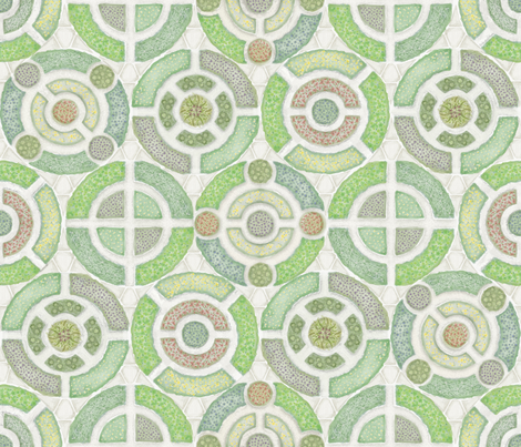 Round___Round_the_Herb_Garden fabric by j9design on Spoonflower - custom fabric