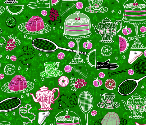 The Grand Lawn-Tennis Picnic fabric by nouveau_bohemian on Spoonflower - custom fabric