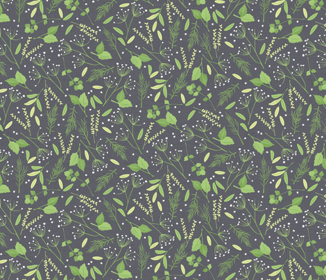 Herb Garden Toss fabric by badger&bee on Spoonflower - custom fabric