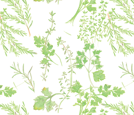 Kitchen Herbs  fabric by mrs_atkins on Spoonflower - custom fabric