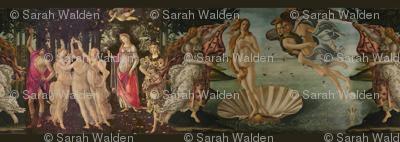 Botticelli Birth of Venus and Primavera With Stripes ~ Small