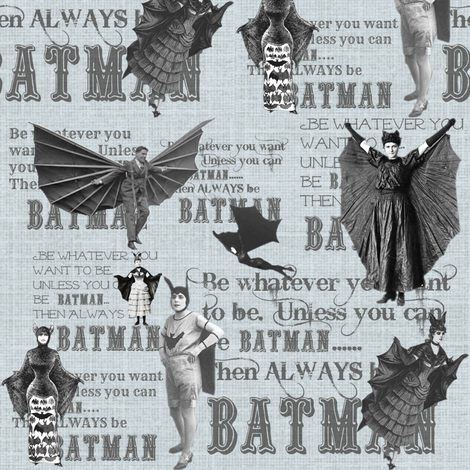 ALWAYS be Batman fabric by marchhare on Spoonflower - custom fabric