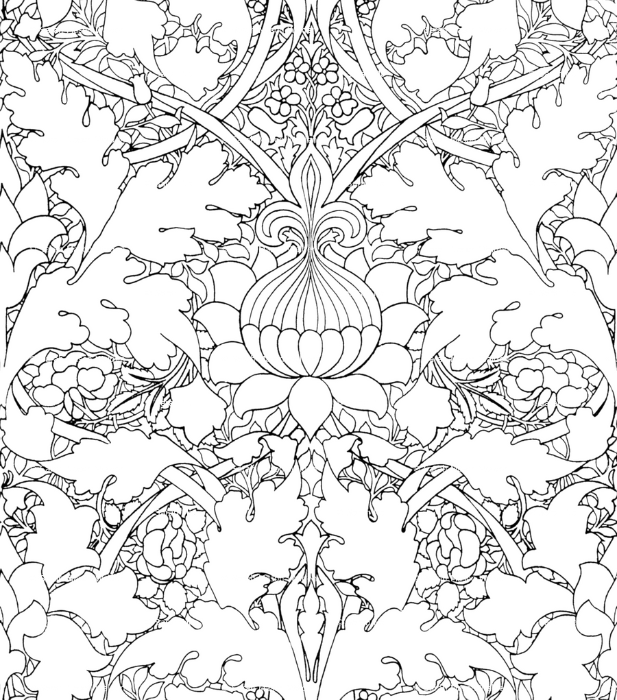 Coloring Pages Of William Morris Art