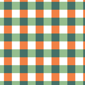 Green and Orange Checkered Pattern Design
