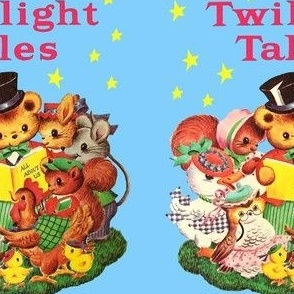 bears ducks squirrels owls chicks chickens hens rats mouse mice animals twilight tales nursery rhymes toddler children fairy tales Anthropomorphic