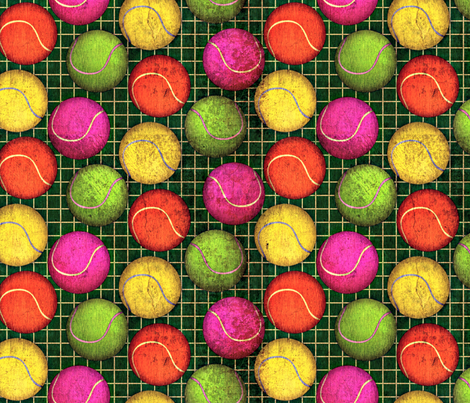 tennisball grunge fabric by glimmericks on Spoonflower - custom fabric