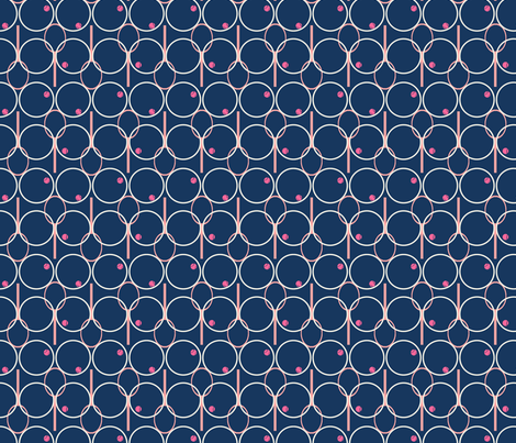 Preppy Tennis fabric by joybucket on Spoonflower - custom fabric