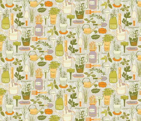 Little Herb Garden fabric by ohn_mar on Spoonflower - custom fabric