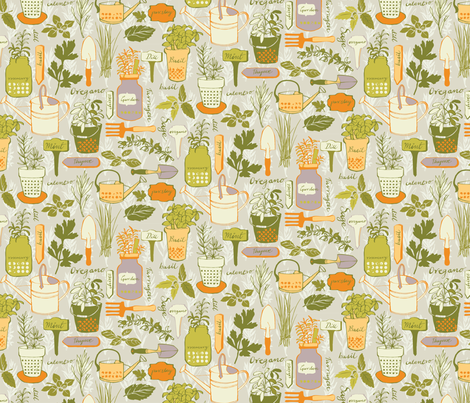Little Herb Garden fabric by ohn_mar on Spoonflower - custom fabric