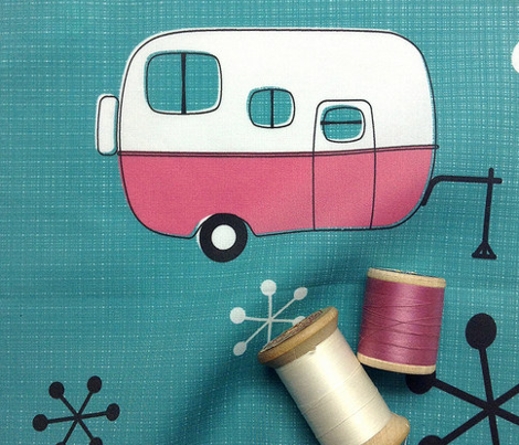 Julie's Campers Pink/TurQ