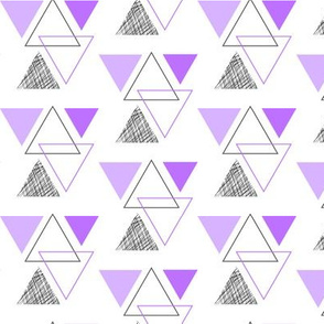 geo triangles // purple