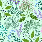 delightful herb garden mint