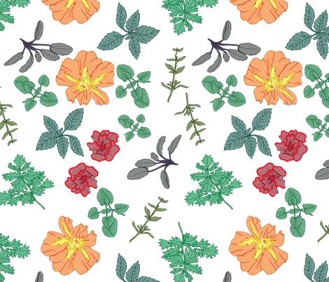 Herb Garden fabric by laragurney on Spoonflower - custom fabric