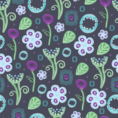 Seamless pattern with surprising plants