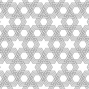 hex-tri star weave double