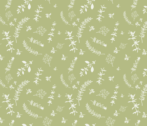 Aromatic Herbs fabric by ksanask on Spoonflower - custom fabric