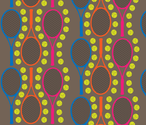 Neon Rackets Love fabric by kfrogb on Spoonflower - custom fabric