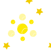 Tennis, stars, yellow, ellan, sports