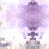 Purple Pastel Crystalized Geometric Shapes