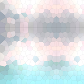 Tiffany Blue Pink Crystalized Geometric Mosaic