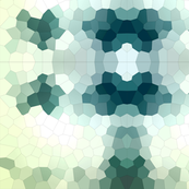 Blue Green Crystalized Geometric Mosaic