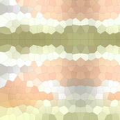 Green Peach Crystalized Geometric Mosaic