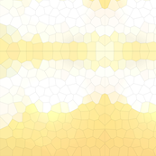 Yellow Crystalized Geometric Mosaic