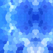 Sky Blue Crystalized Geometric Mosaic