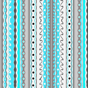 Wave Stripes blue