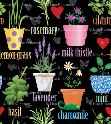 Colorful Herb Garden