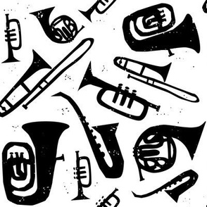 Jazz Print - Black and White