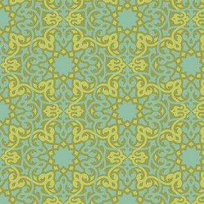 Cyngalese Arabesque blue-green
