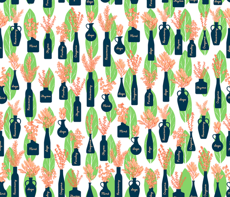 Herbacious fabric by suestrobel on Spoonflower - custom fabric