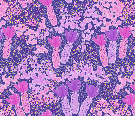 Lavender in Bloom fabric by rubydoor on Spoonflower - custom fabric