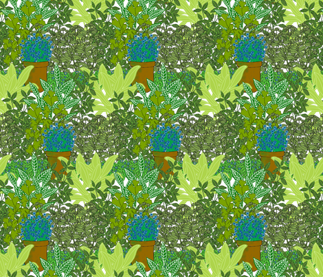 Herb Garden fabric by linsart on Spoonflower - custom fabric