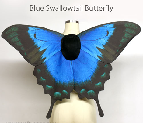 Blue Swallowtail Butterfly Costume Wings