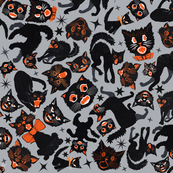 Halloween Cats Grey