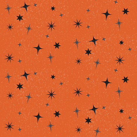 Halloween Stars fabric by heidikenney on Spoonflower - custom fabric