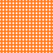 Orange fox sphere on white