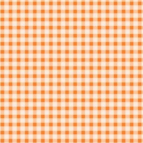 Orange and white fox gingham