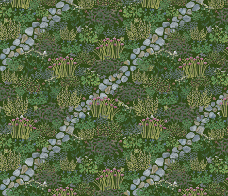 HERB GARDEN fabric by pinkfez on Spoonflower - custom fabric