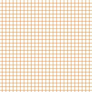 Orange fox grid on white