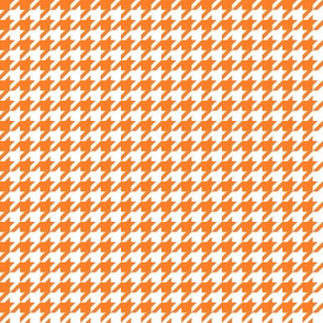 Orange and white fox houndstooth