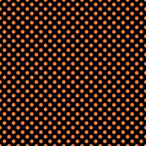 Black and orange fox polka dot